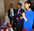 Diwali auction at Kent House with christina pierce, cricket artist