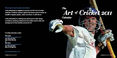 art of cricket 2011 calendar