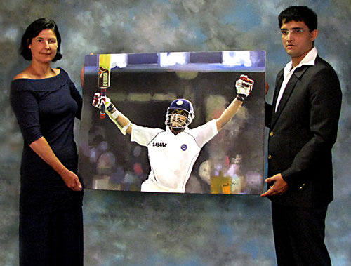 recent commission for Sourav Ganguly