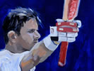 rahul dravid painting by christina pierce, cricket artist
