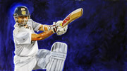 Sachin Tendulkar painting by christina pierce, cricket artist
