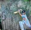 Sachin in the nets painting by christina pierce, cricket artist