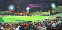 "Trent Bridge  oil on canvas 12"" x 24"" - painting by christina pierce"
