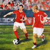 Norway commissioned painting by christina pierce, cricket artist