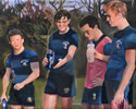 Reeds rugby players commissioned painting by christina pierce, cricket artist