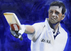 dravid painting by christina pierce, cricket artist