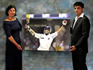 commission for Sourav Ganguly by christina pierce, cricket artist