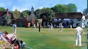 "Ripley CC oil on canvas 50"" x 62"" - painting by christina pierce, cricket artist"