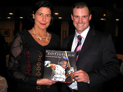 Christina Pierce with Andrew Strauss