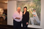 Farokh-Engineer with christina pierce, cricket artist