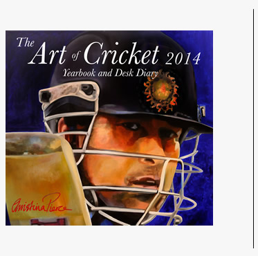 2014 Art of Cricket yearbook and desk diary by Christian Pierce and Christopher Bishop